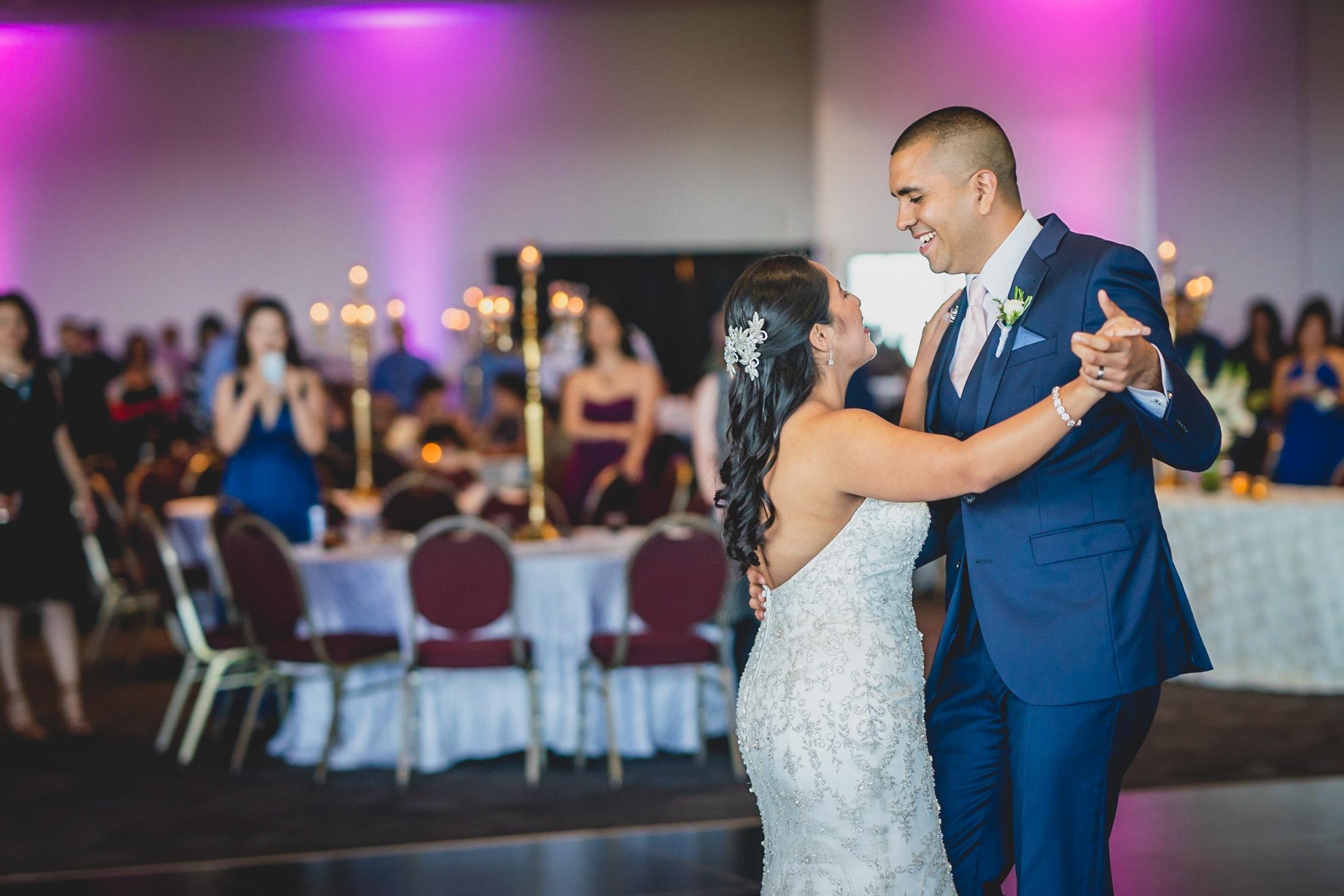Wedding Videography - San Antonio, TX - Bride and groom dancing.