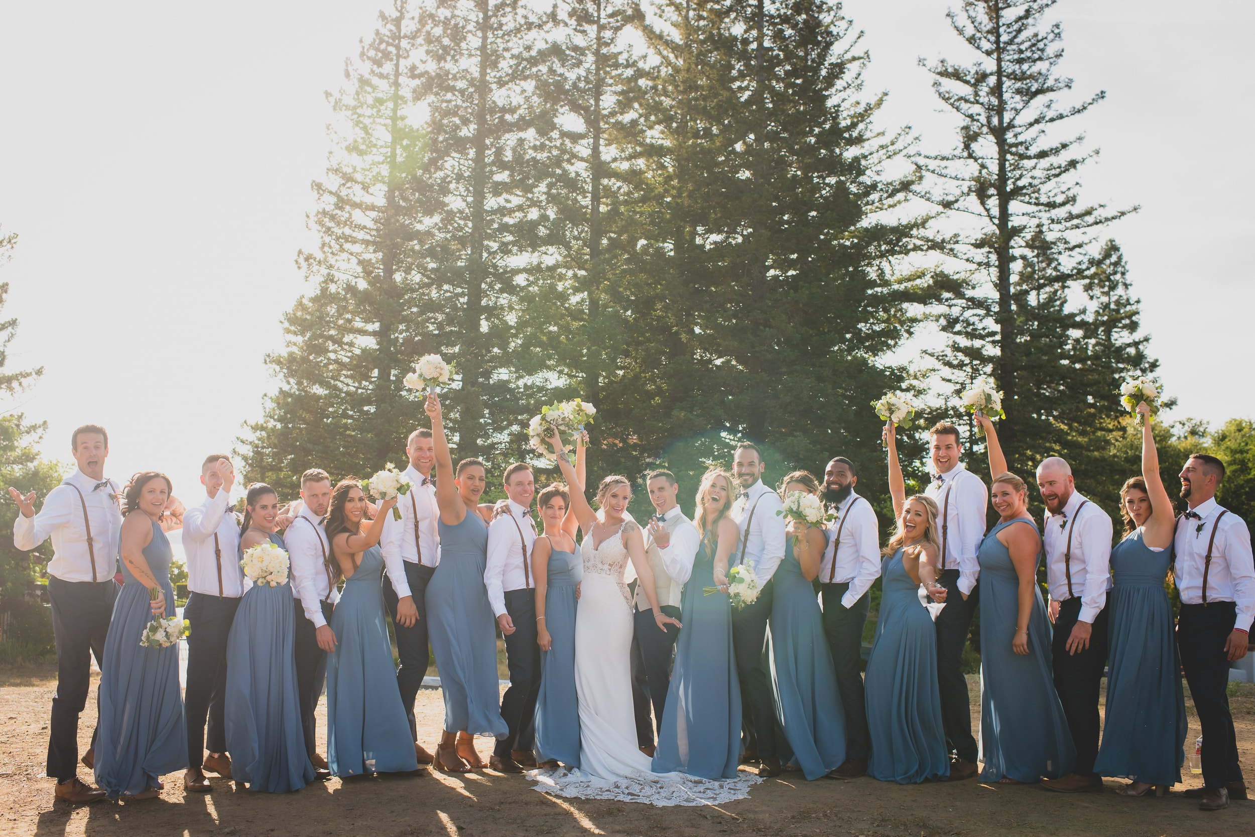 How To Keep Your Bridal Party Informed: A Guide To Keeping Everyone In The Loop - An enthusiastic bridal party.