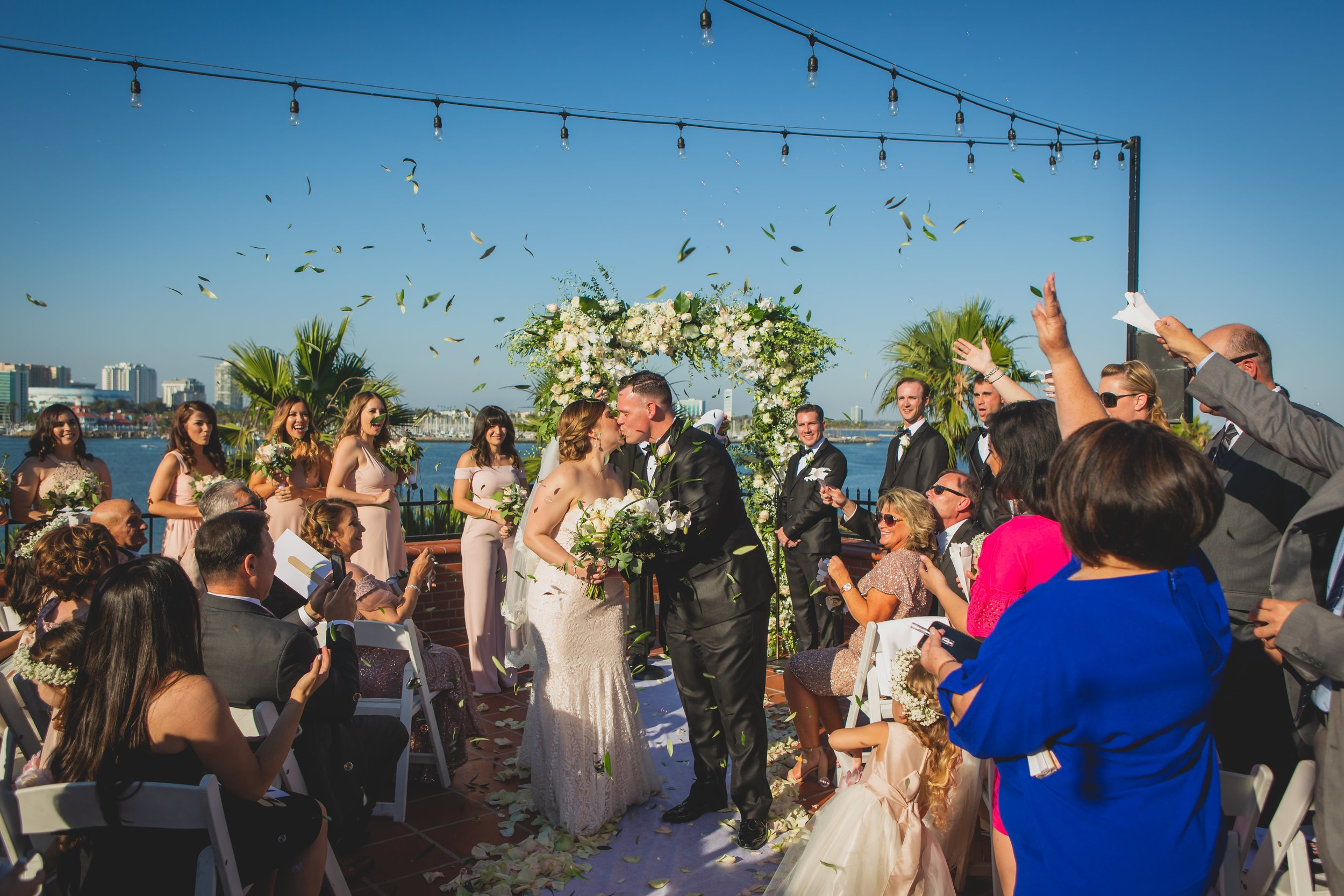Last Minute Checklist: Things to Know Before Your Outdoor Wedding - A beachfront outdoor wedding ceremony.