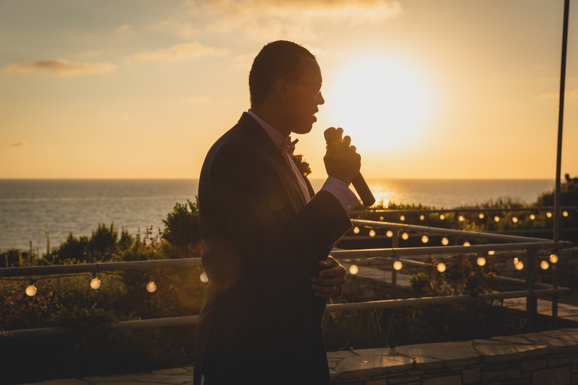 Last Minute Checklist: Things to Know Before Your Outdoor Wedding - The groom addressing his guests using a PA system.