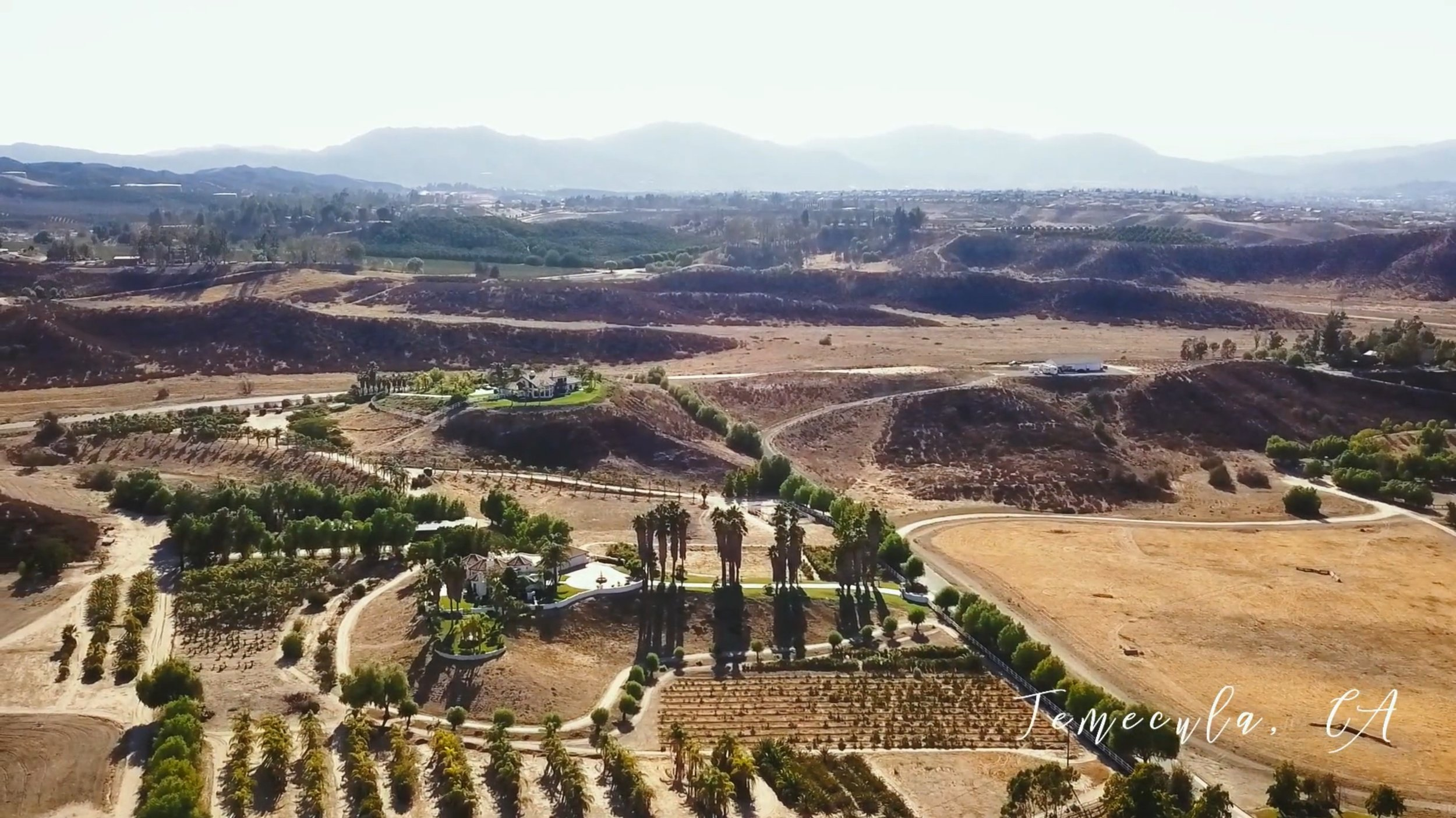 Aerial drone footage of Temecula, CA