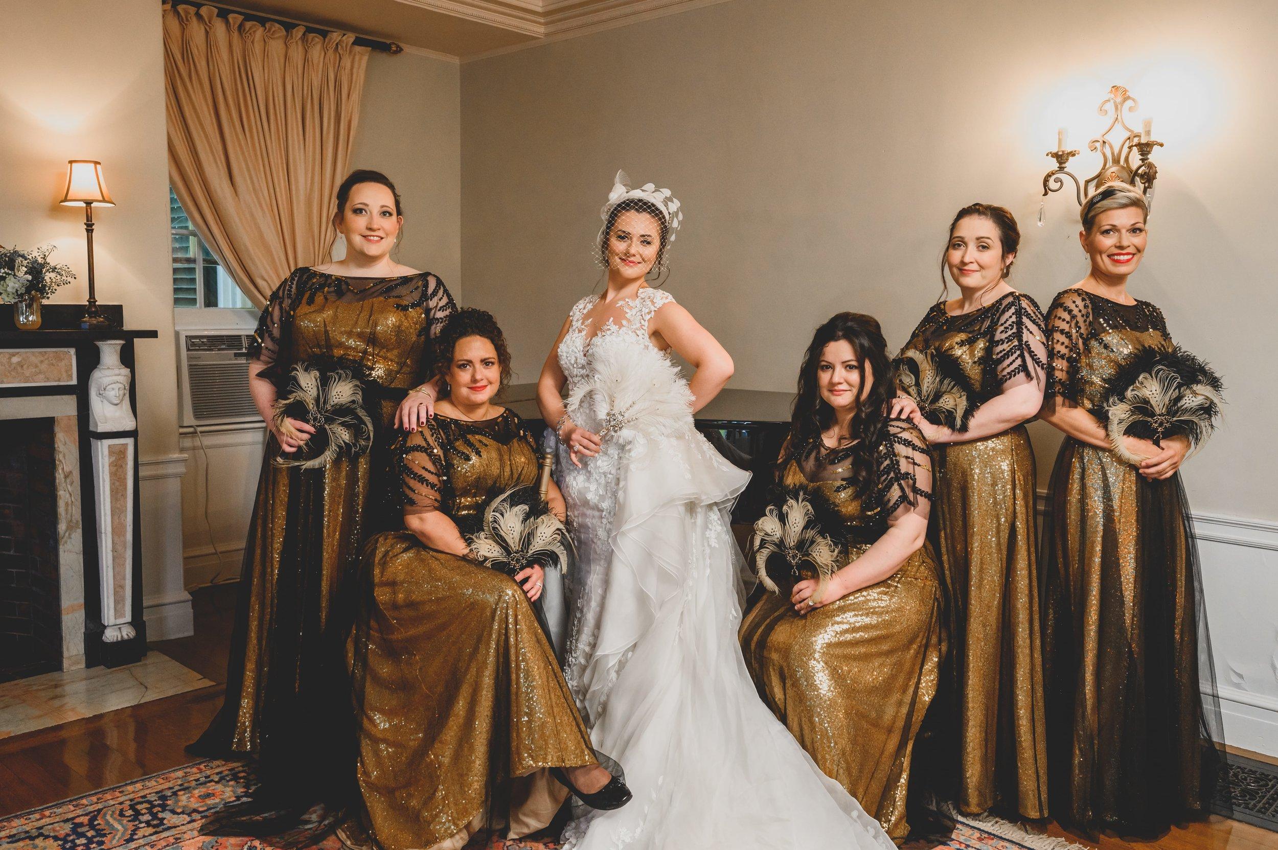 masquerade-wedding-theme-bridal-party