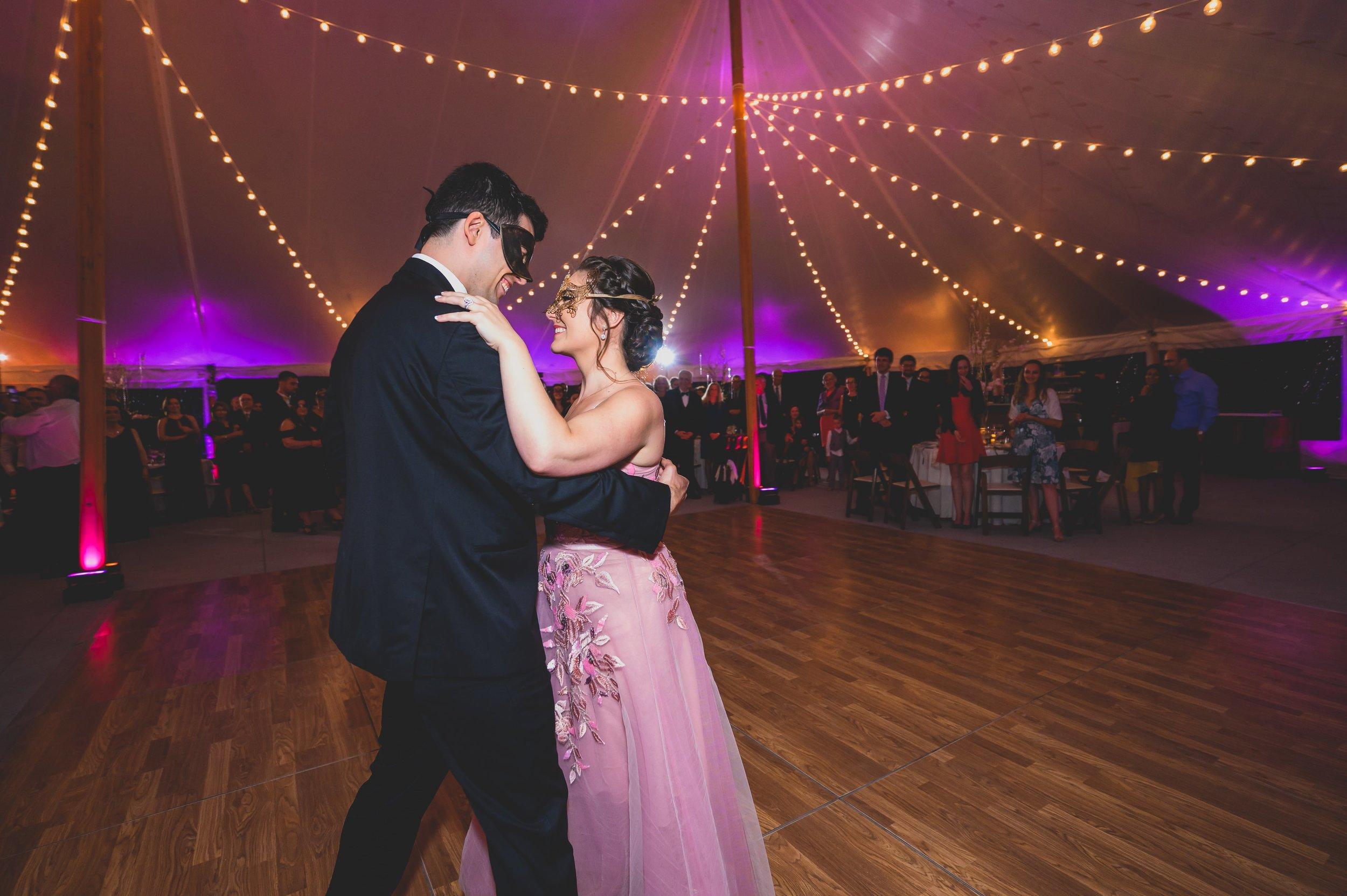 masquerade-wedding-theme-first-dance