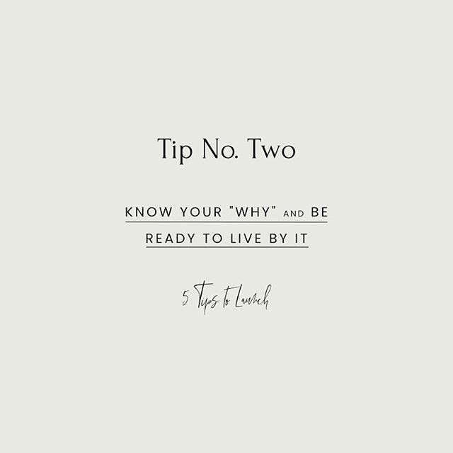 """LAUNCH TIP NO. TWO ⠀⠀⠀⠀⠀⠀⠀⠀⠀ Know your WHY and be ready to live by it. ⠀⠀⠀⠀⠀⠀⠀⠀⠀ WHY are you launching? If it's a re-launch (like what I'm doing right now), how are your offerings or ideal clients changing? Are you doing this to get more bookings, to work more within your skill set, or because you are ready to head in a new direction as a creative? ⠀⠀⠀⠀⠀⠀⠀⠀⠀ If this is your first venture, what is the message you are putting out to the world, and who are you talking to? WHY are you choosing those colours, that tag-line, that logo? ⠀⠀⠀⠀⠀⠀⠀⠀⠀ Point is, over the launch process you are going to create 247648905 pieces of content. You're going to be up to your eyeballs in colour palettes, website design, social content, and more. You'll be on Pinterest for hours looking for inspiration and ideas. ⠀⠀⠀⠀⠀⠀⠀⠀⠀ It is SO easy to get distracted by what other people are doing. You are not them. You do YOU. Know your why, and stick by it. Serve YOUR people, share YOUR message, and let anything that isn't in line with your vision fall away.  Hope you enjoyed day two!!! Drop your """"why"""" below (if you read this far 😂😂) so I can cheer you on!!!"""