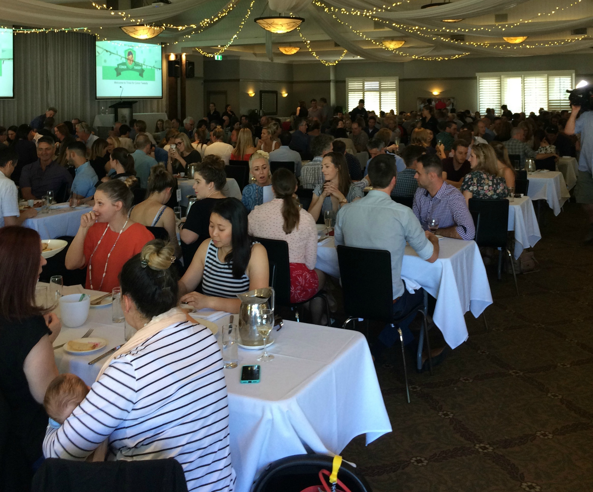 Sean's colleagues at the University of Queensland organised a Trivia afternoon with over 300 participants.