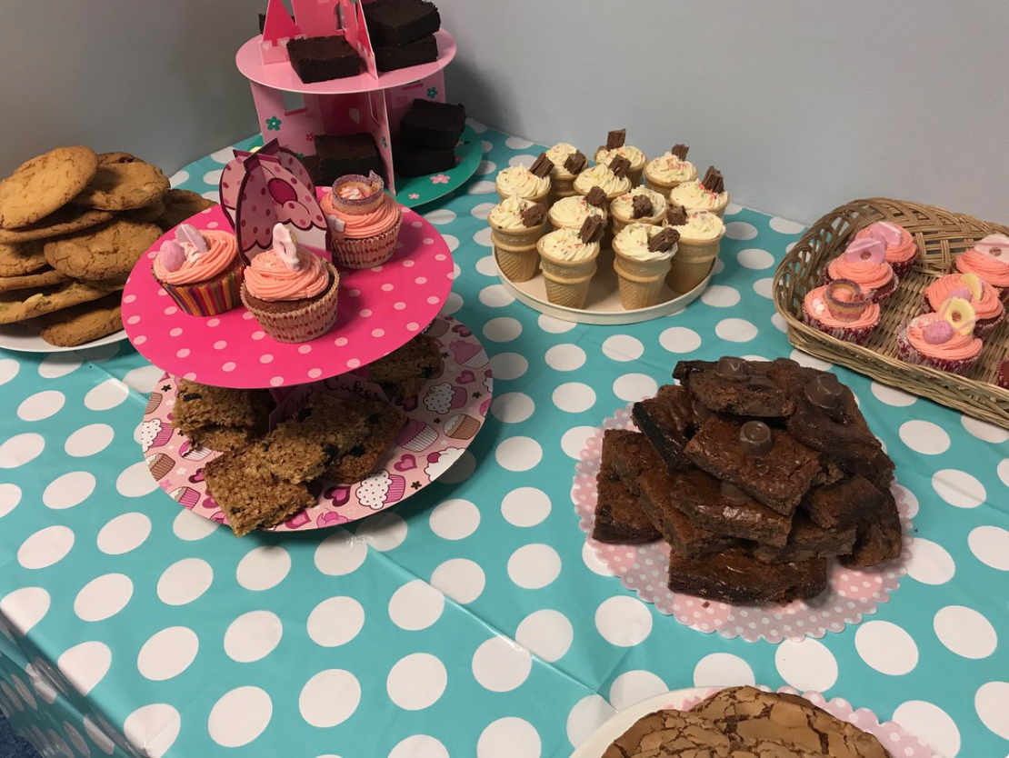 Viberts Lawyers on the Channel Island of Jersey held a bake sale to raise money to support Conor's rehabilitation.