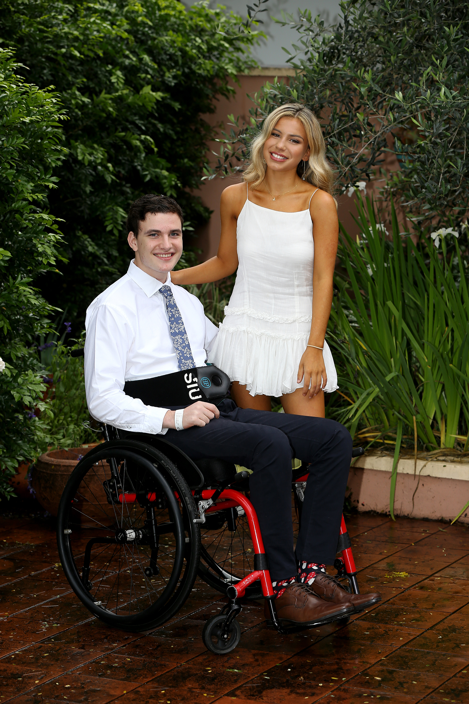 Conor and Alexandra ready for the semi formal