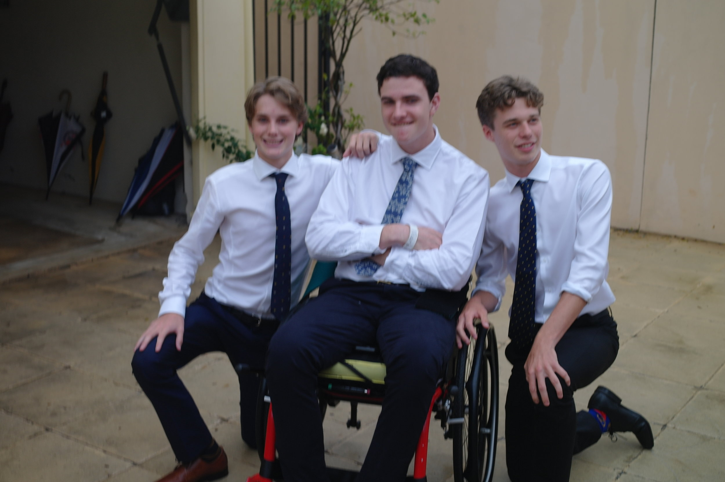 Conor with mates at his school semi formal
