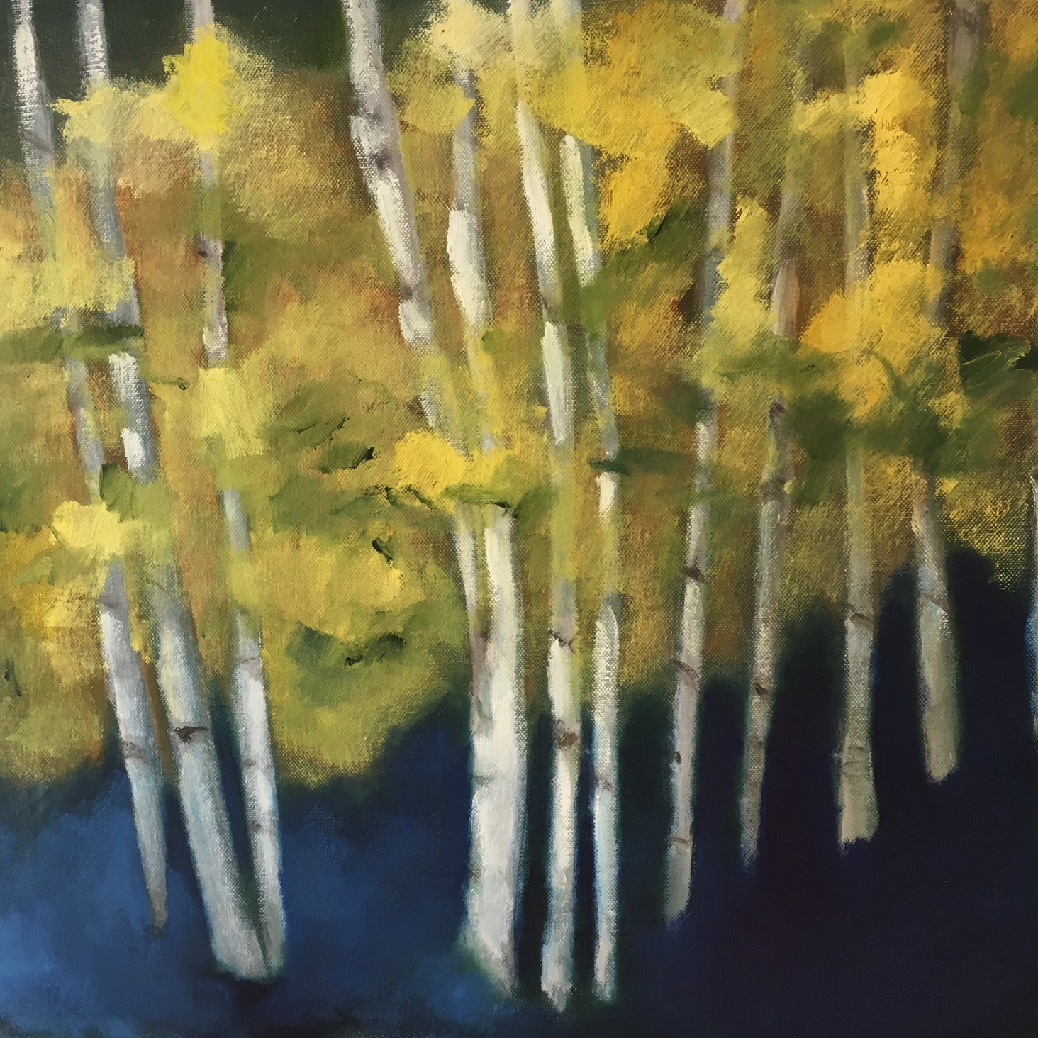 """Birch Ending"" | Oil On Canvas | 20x20"