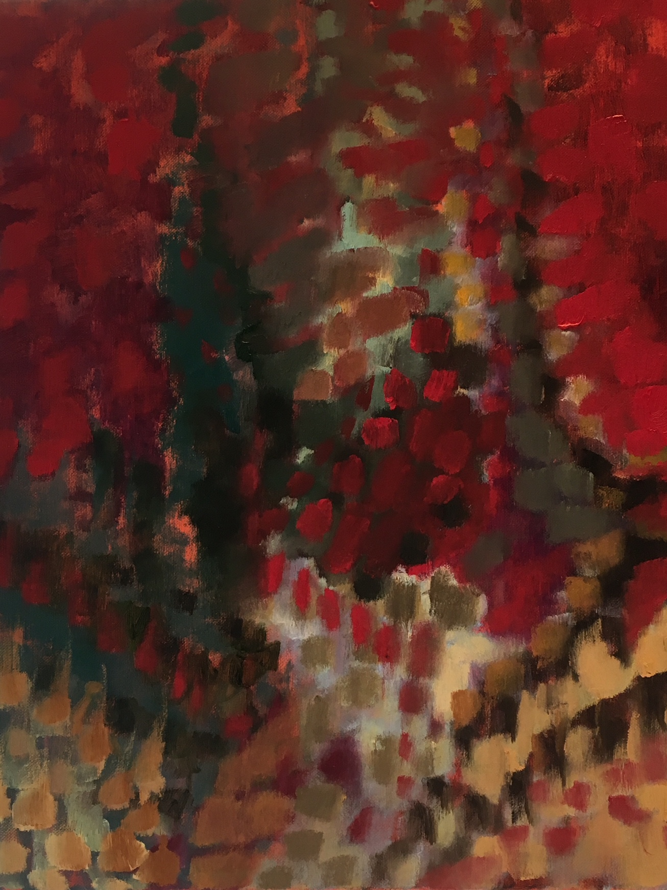 """Red Mosaic Glass"" 