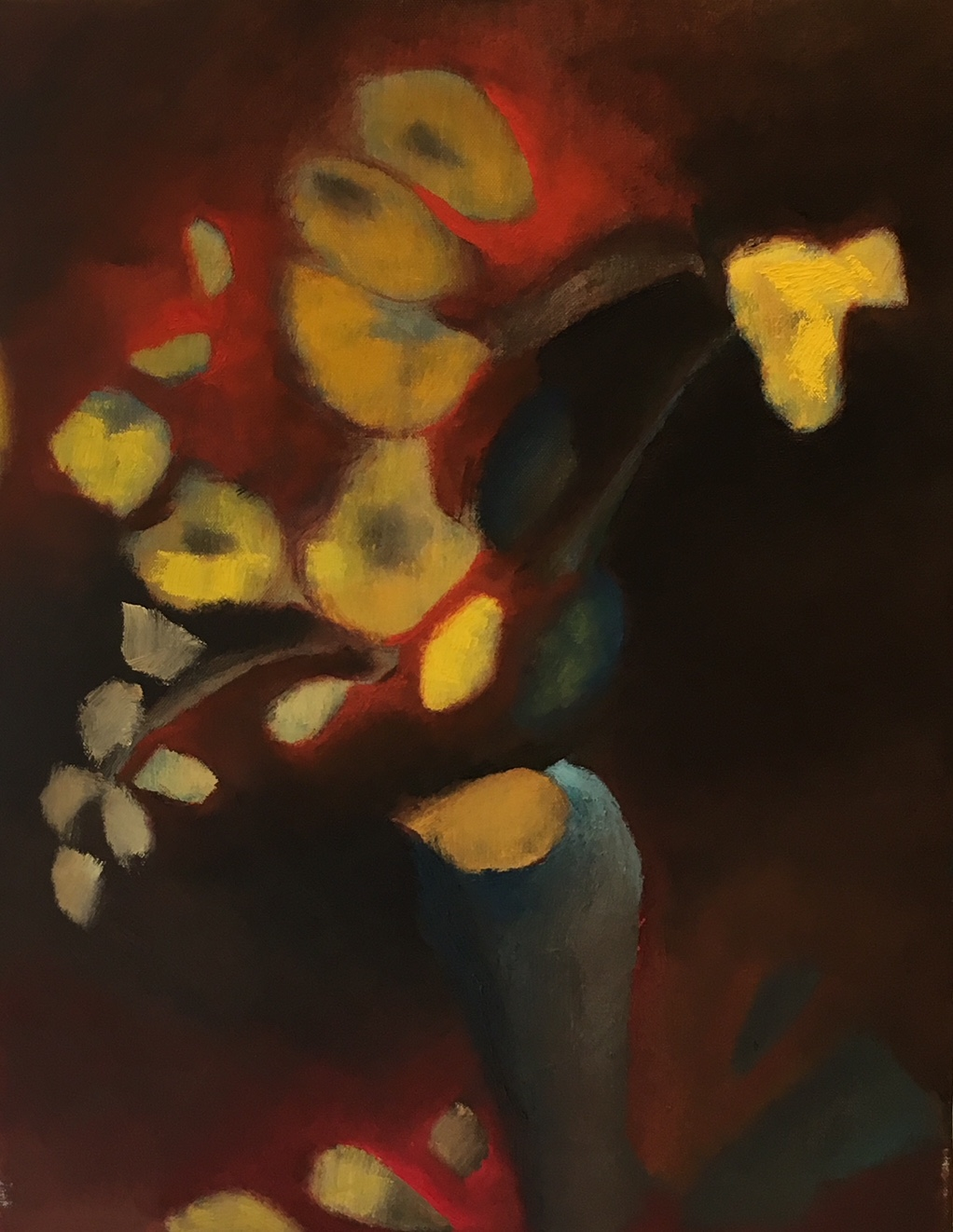 """Fire Yellow Teal"" 