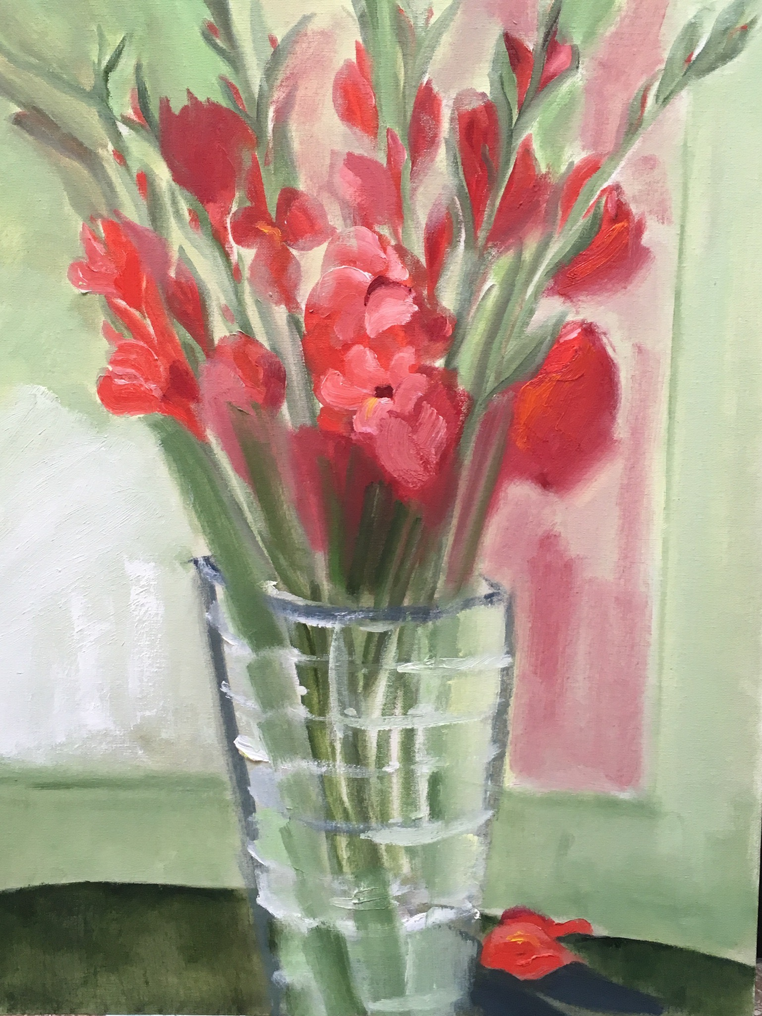 """Red Gladiolas"" 