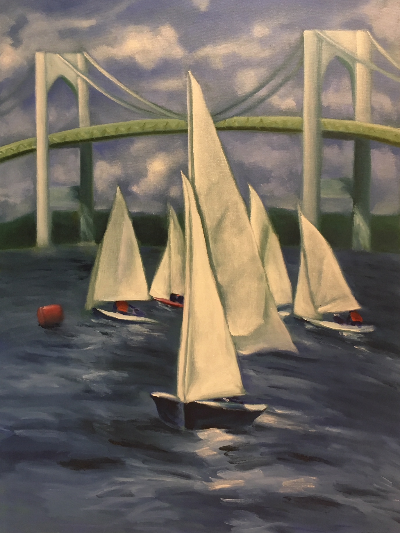 """Sailboats At Verrazano Bridge"" 