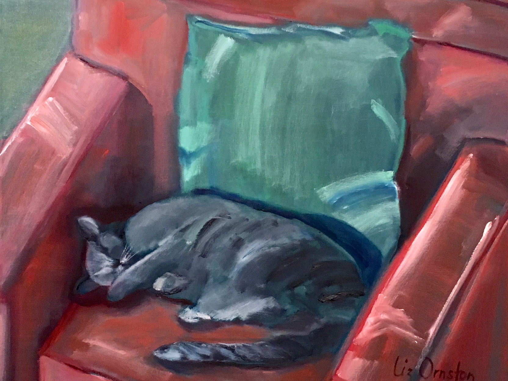 """Tawny In The Red Chair"" 