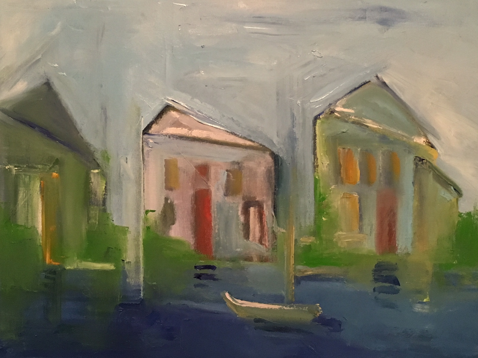 """Three Houses On The Bay"" 