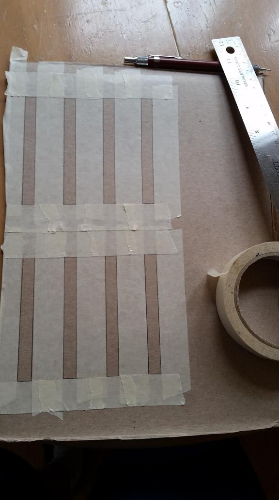Creating uniform grids to test each conductive paint ratio