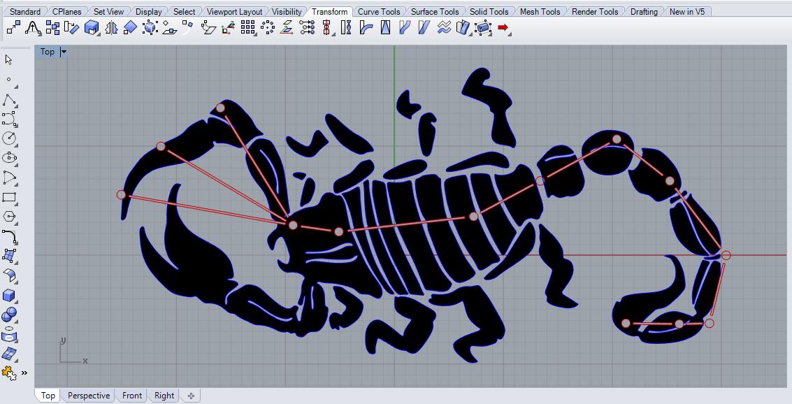 Final design of scorpius