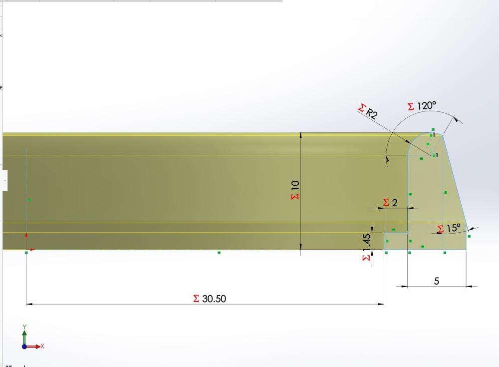 Geometry of bottom piece