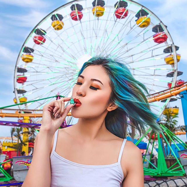 You will have wheely great hair if you eat 2 @sugarbearhair gummies a day. Fair enough right? 🎡 🎪🤹 #Sugarbearhair #ad