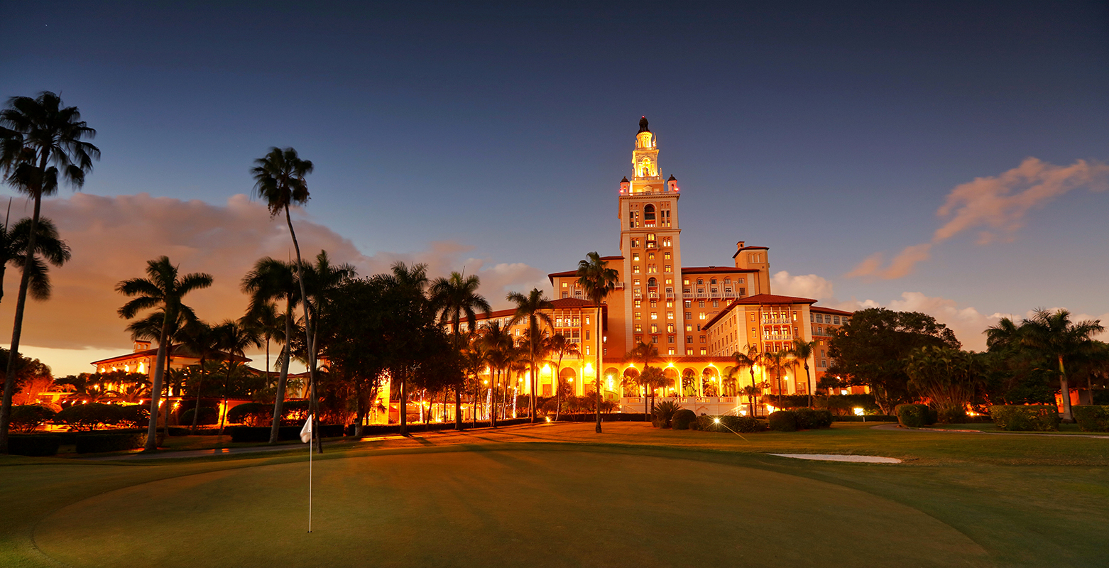 The Biltmore Miami Coral Gables is the perfect location for our premier golf school. Today, the 273 room hotel and resort is synonymous with luxury and class, providing an array of amenities for our students and guests.