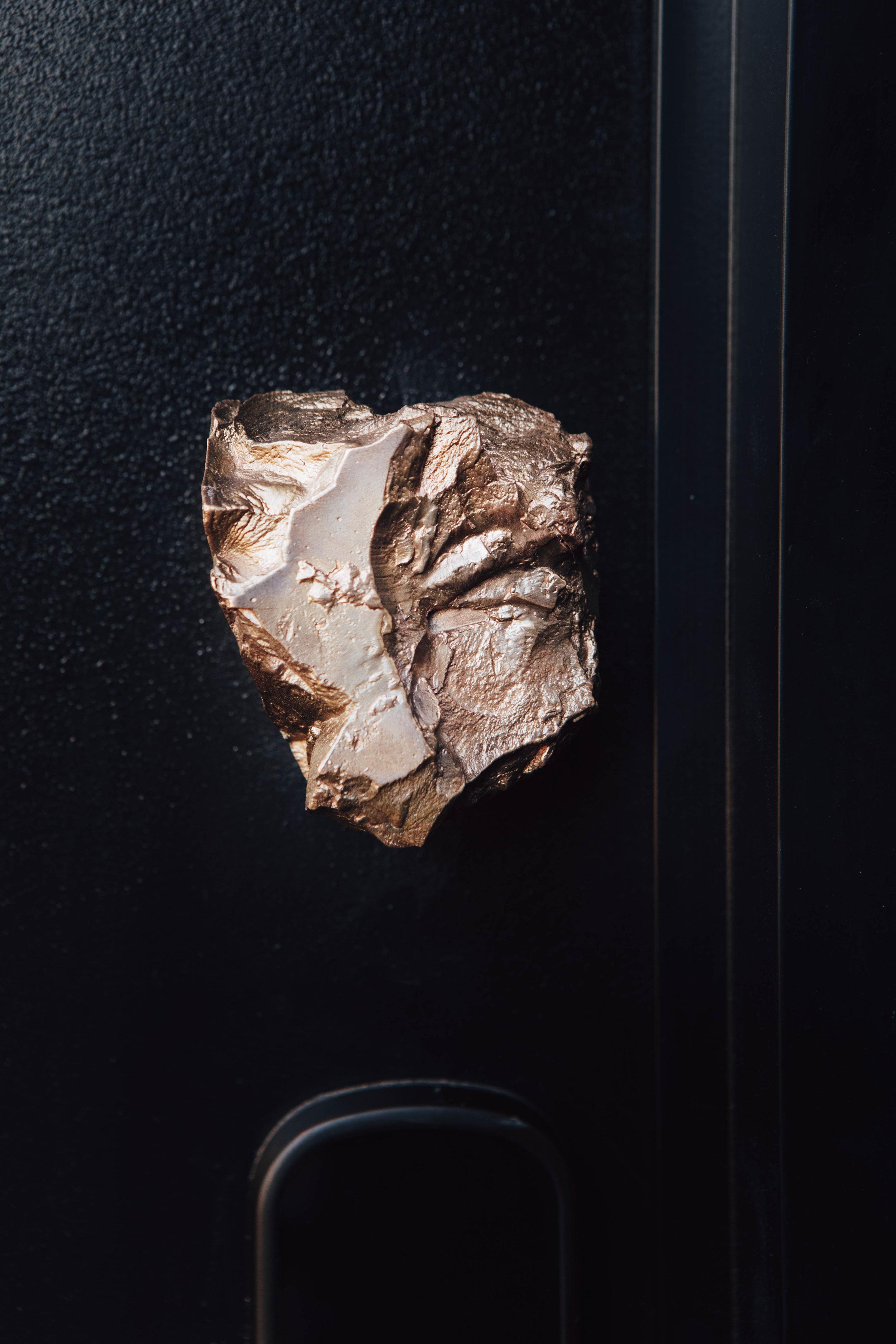 Anna Varendorff bronze cast stone front door handle
