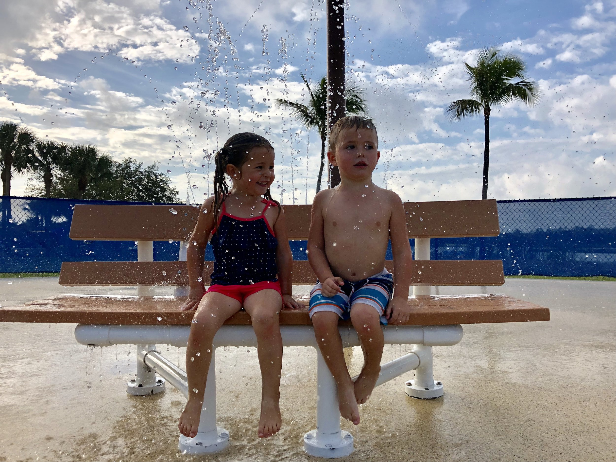 Who doesn't love a splash pad adventure on a hot day?