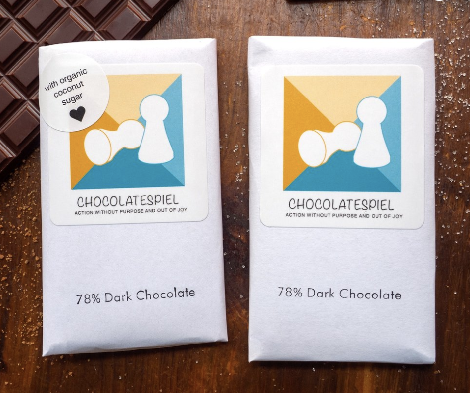 Some of the chocolate bars you can purchase on the ChocolateSpiel website!