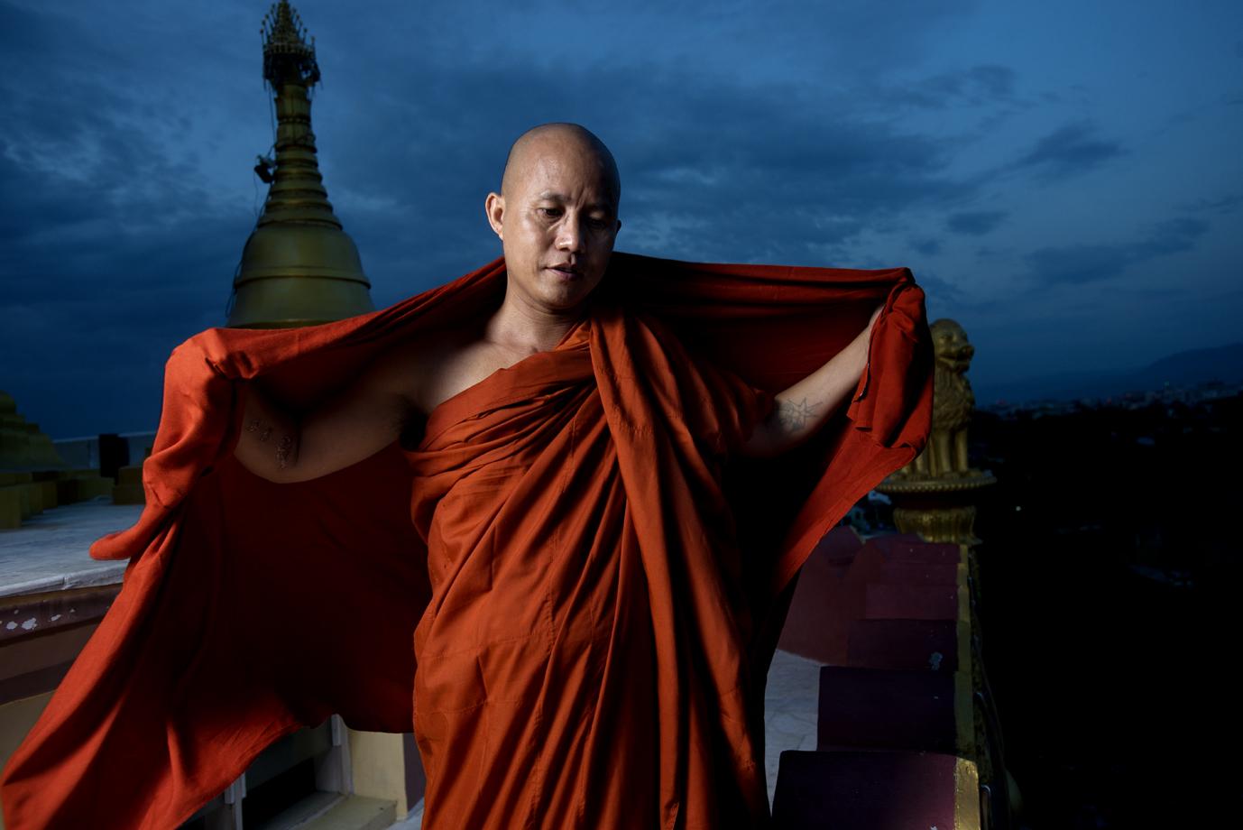 Extremist Buddhist monk, Ashin Wirathu, Mandalay / Burma