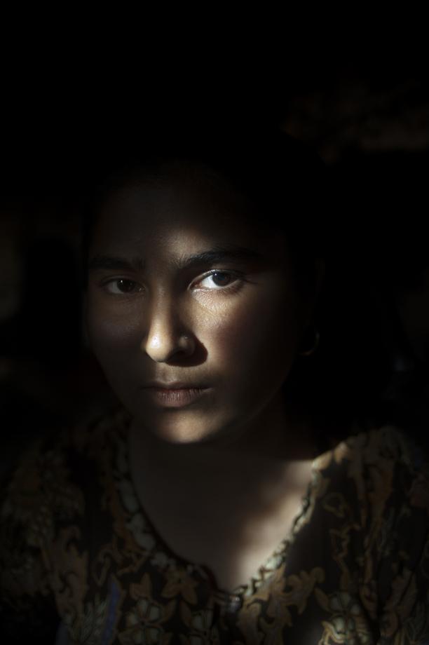 Rohingya woman who lost her husband due to military violence, Sittwe IDP Camps, Rakhine state / Burma