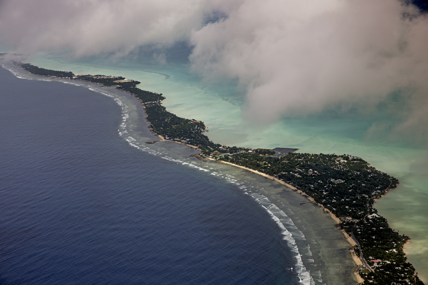 The island republic of Kiribati is the first nation to be expected to sink by elevated sea levels / Central Pacific - 2015