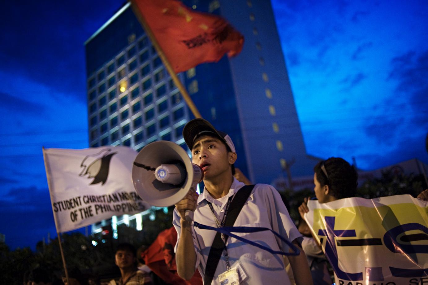 Students protests against the mayor of Davao city, Rodrigo Duterte, Mindanao / Philippines - 2010