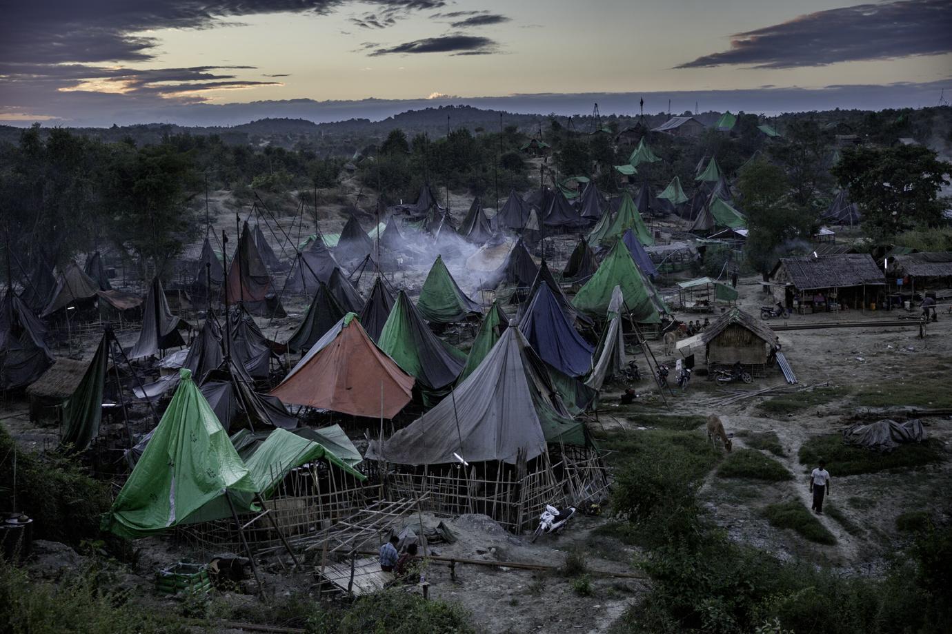 Oil Drilling camp / Burma - 2015