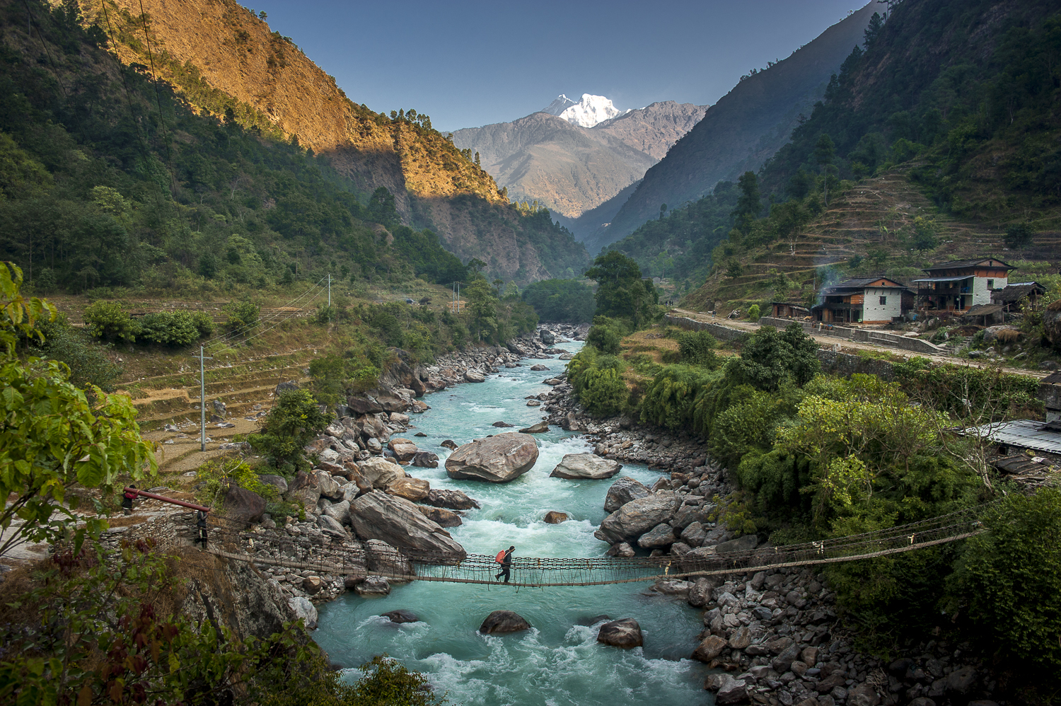 Himalayan valley / Nepal