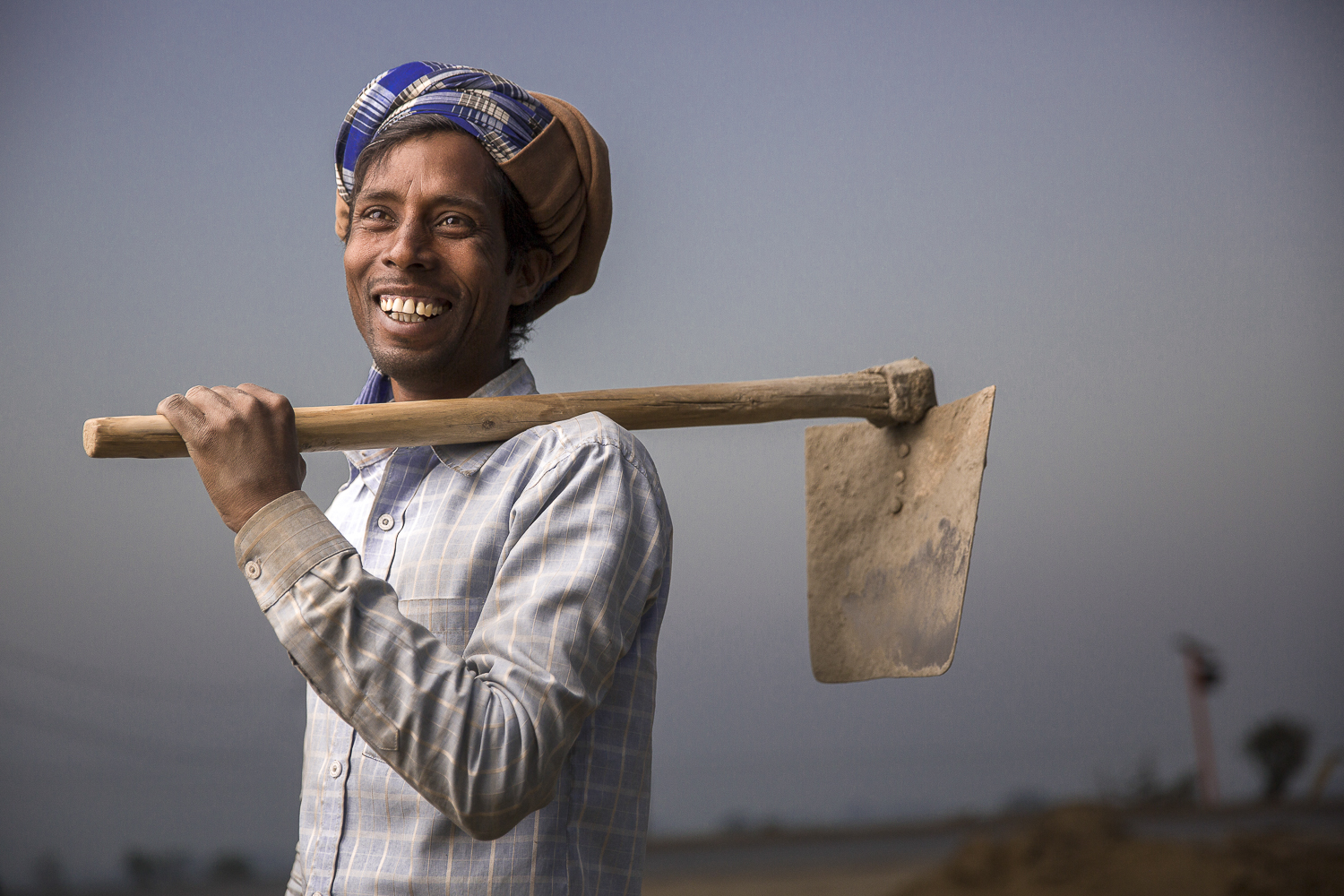 Construction worker / India