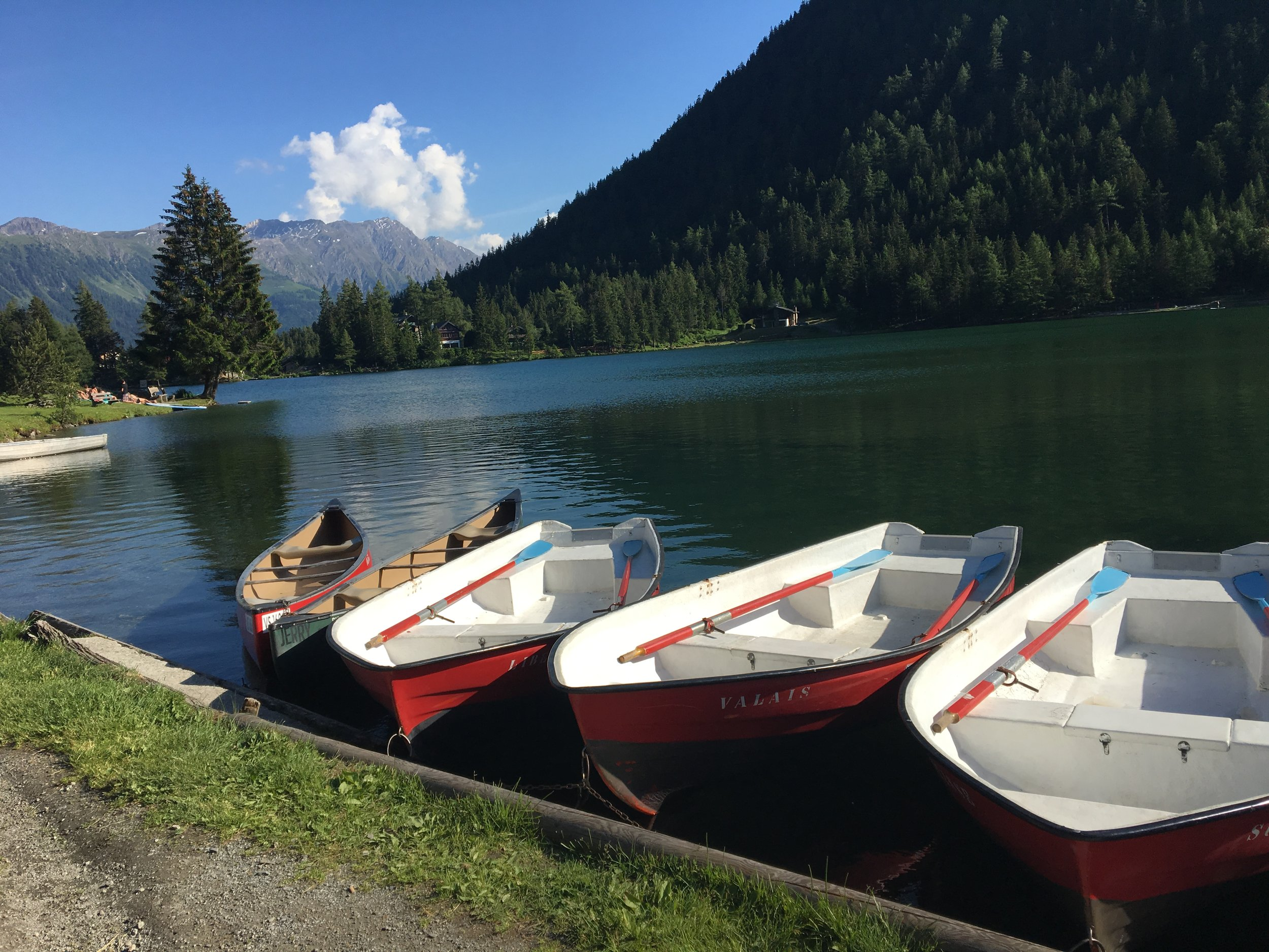 Champex-Lac is alpine village where you restock on supplies and relax by the lake