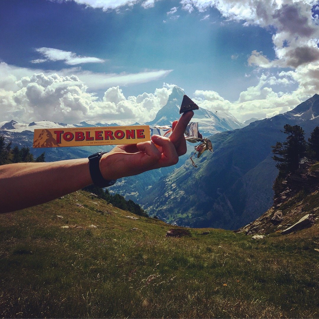 As the finish line comes into view, a great way to celebrate is doing some Toblerone quality control!