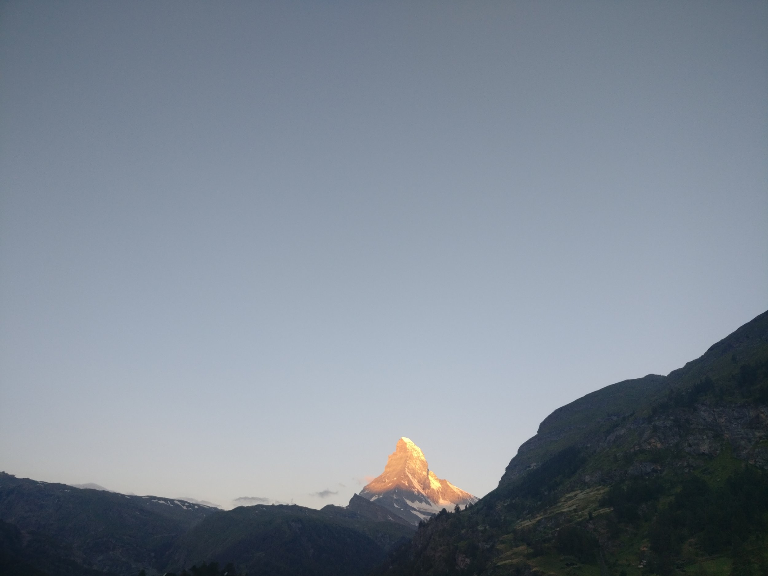 Rising early to see the Matterhorn Alpin Glow is a real treat