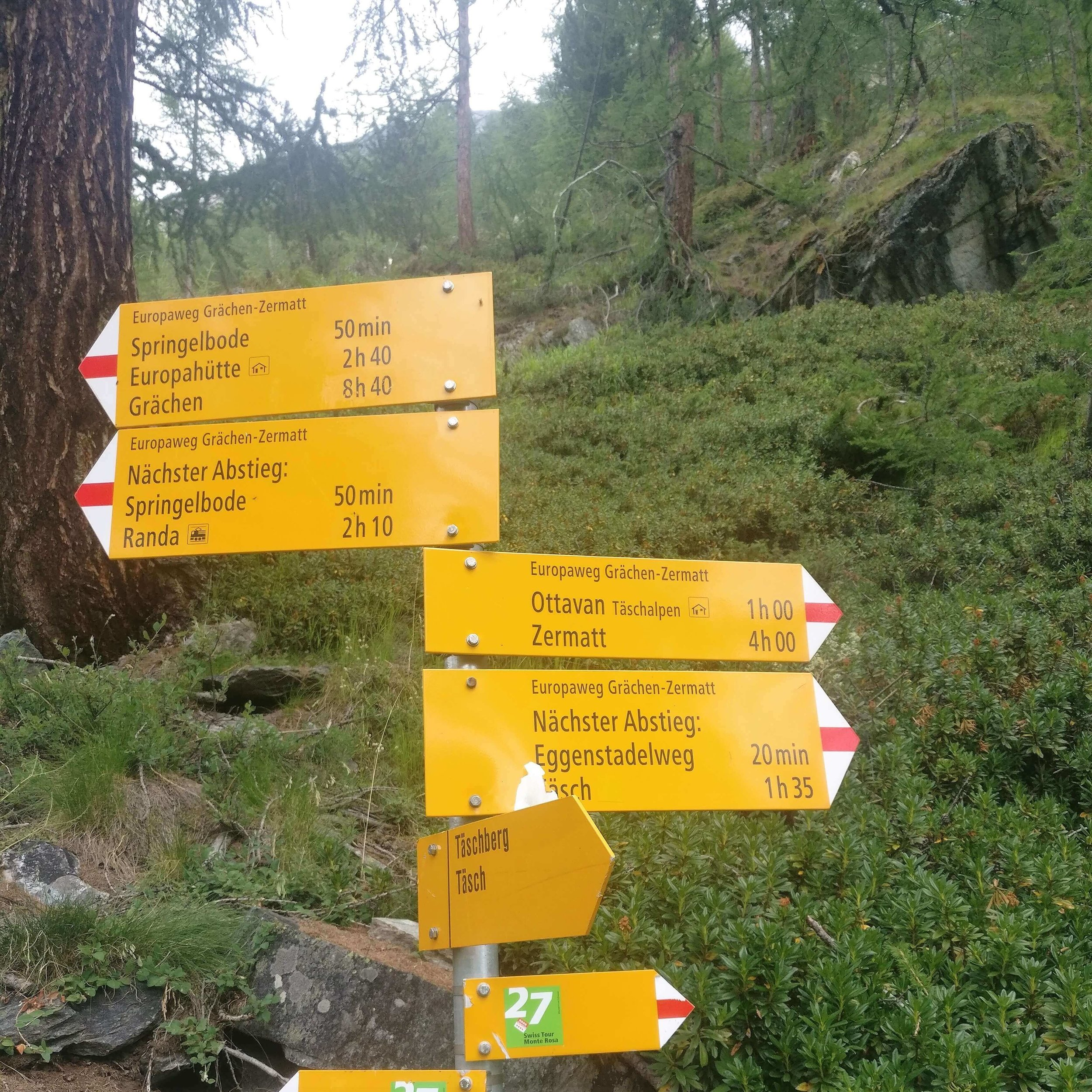 Europaweghut:  It is listed as Ottavan Taschalpen on the Europaweg trail signs.
