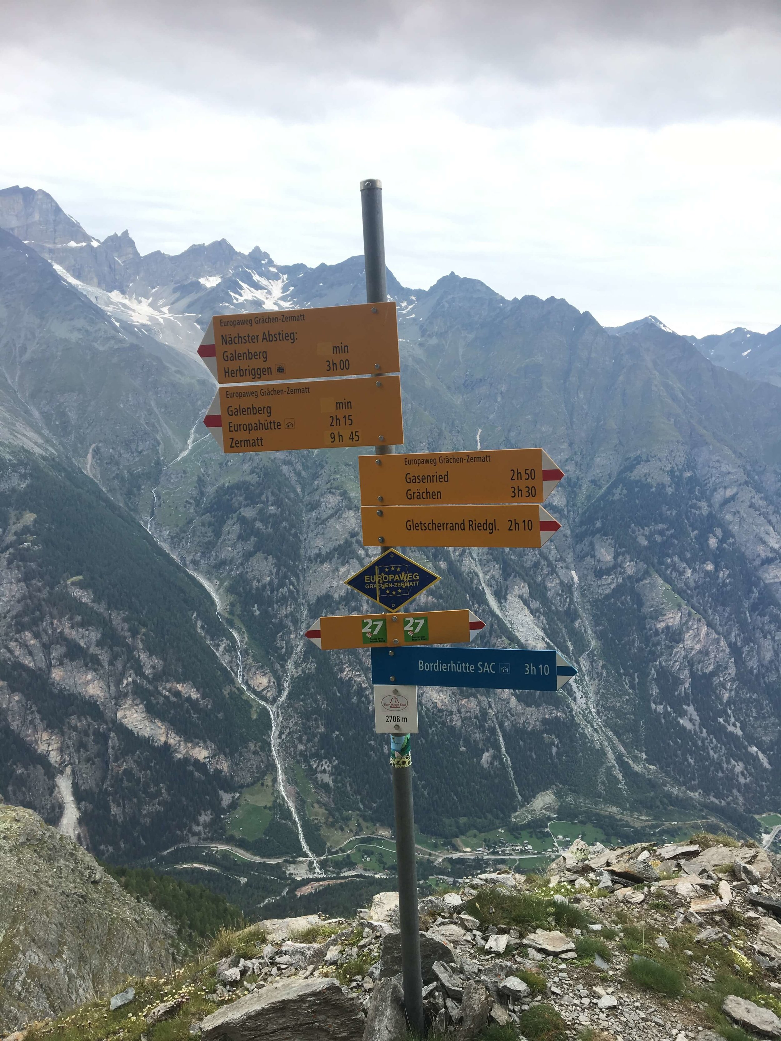 Haute Route Map - Trail Signs