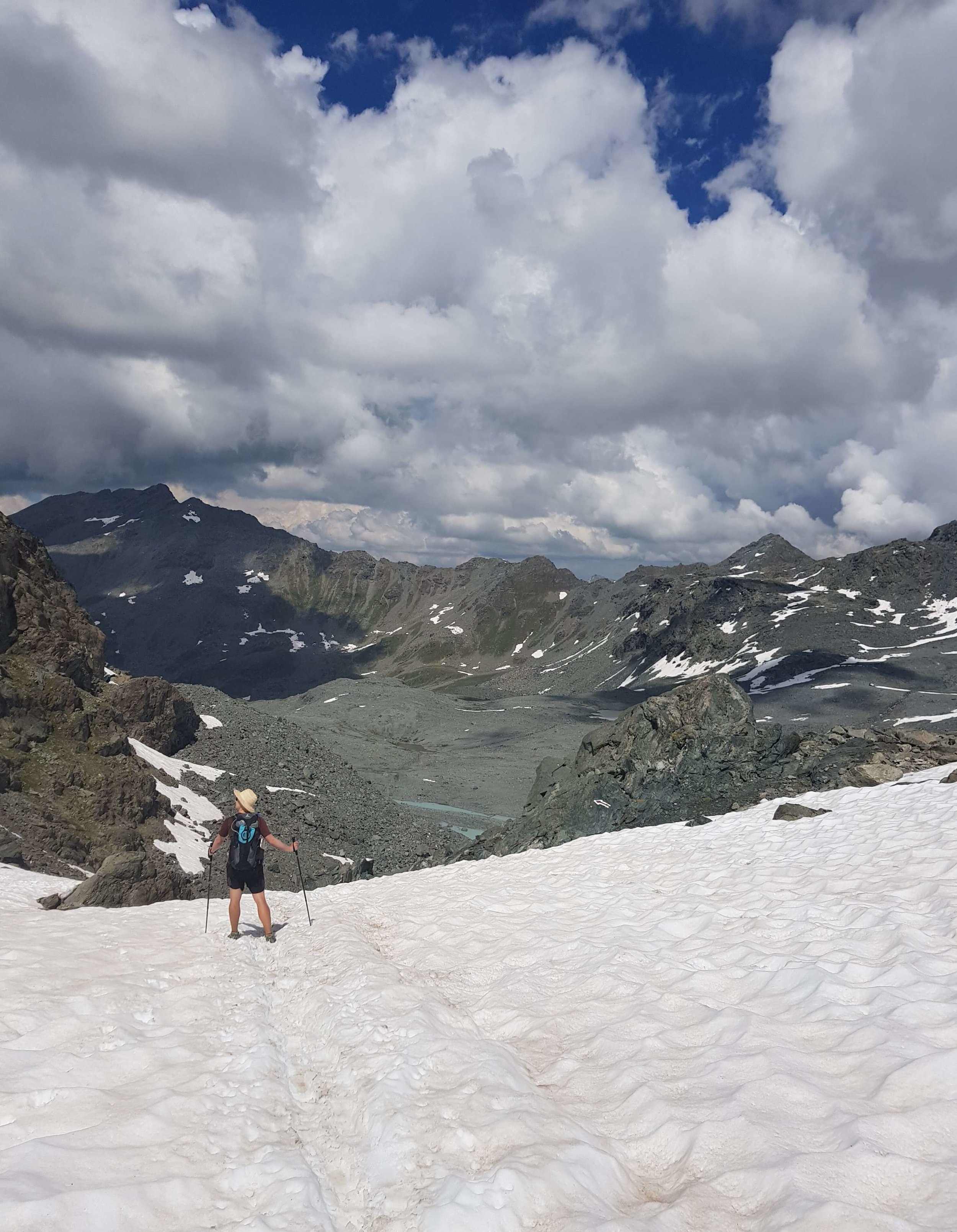 Haute Route Hike: More snow than expected during our Verbier to Refuge La Balma section
