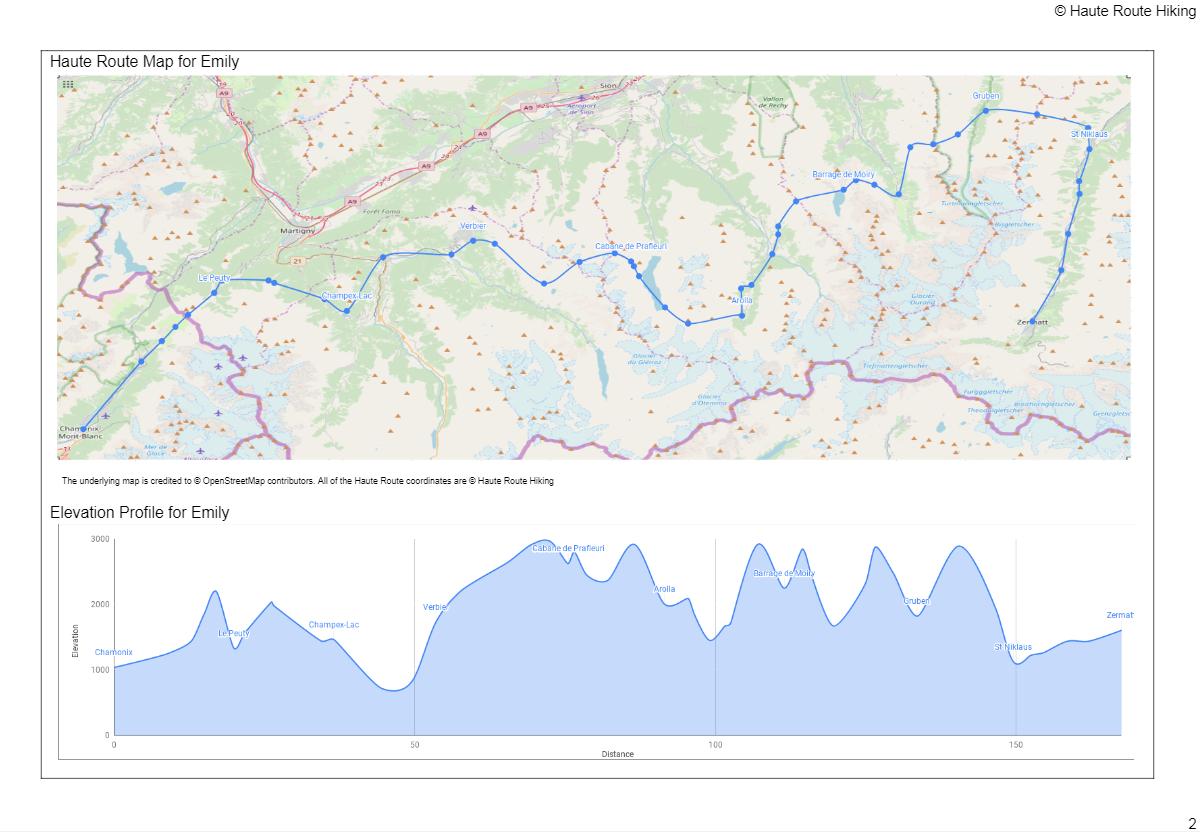 self guided hiking maps