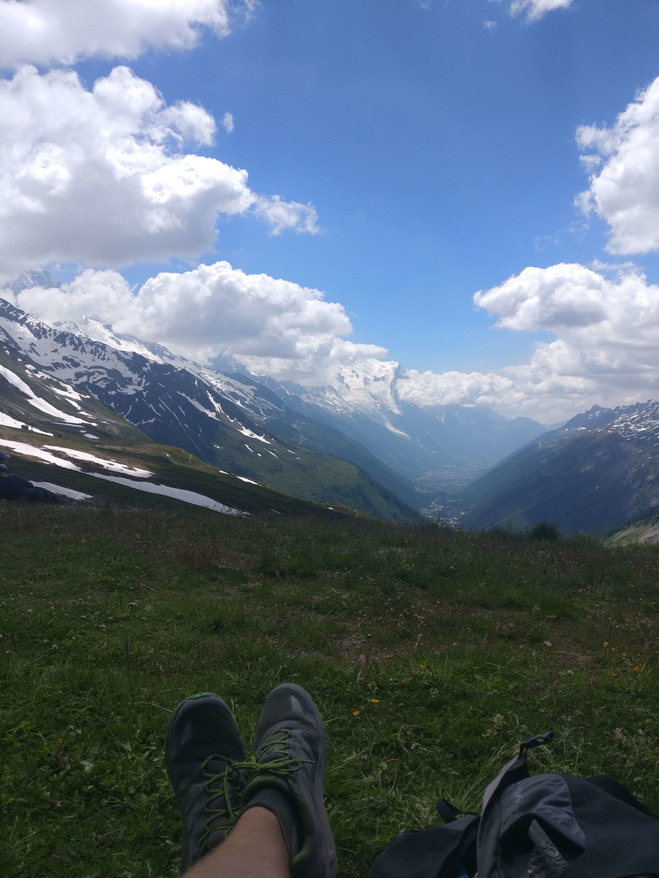 No matter the time constraint, there should always time for a lunch break on the Walker's Haute Route