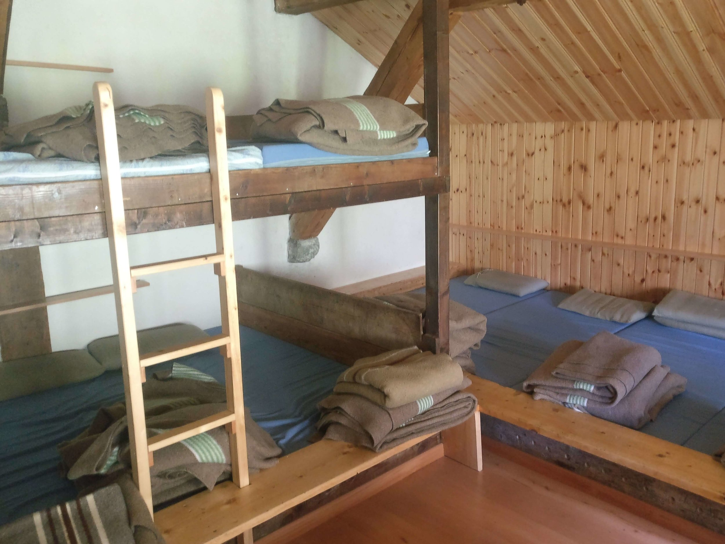 Staying in dorms on the Walker's Haute Route is a cost effective accommodation choice