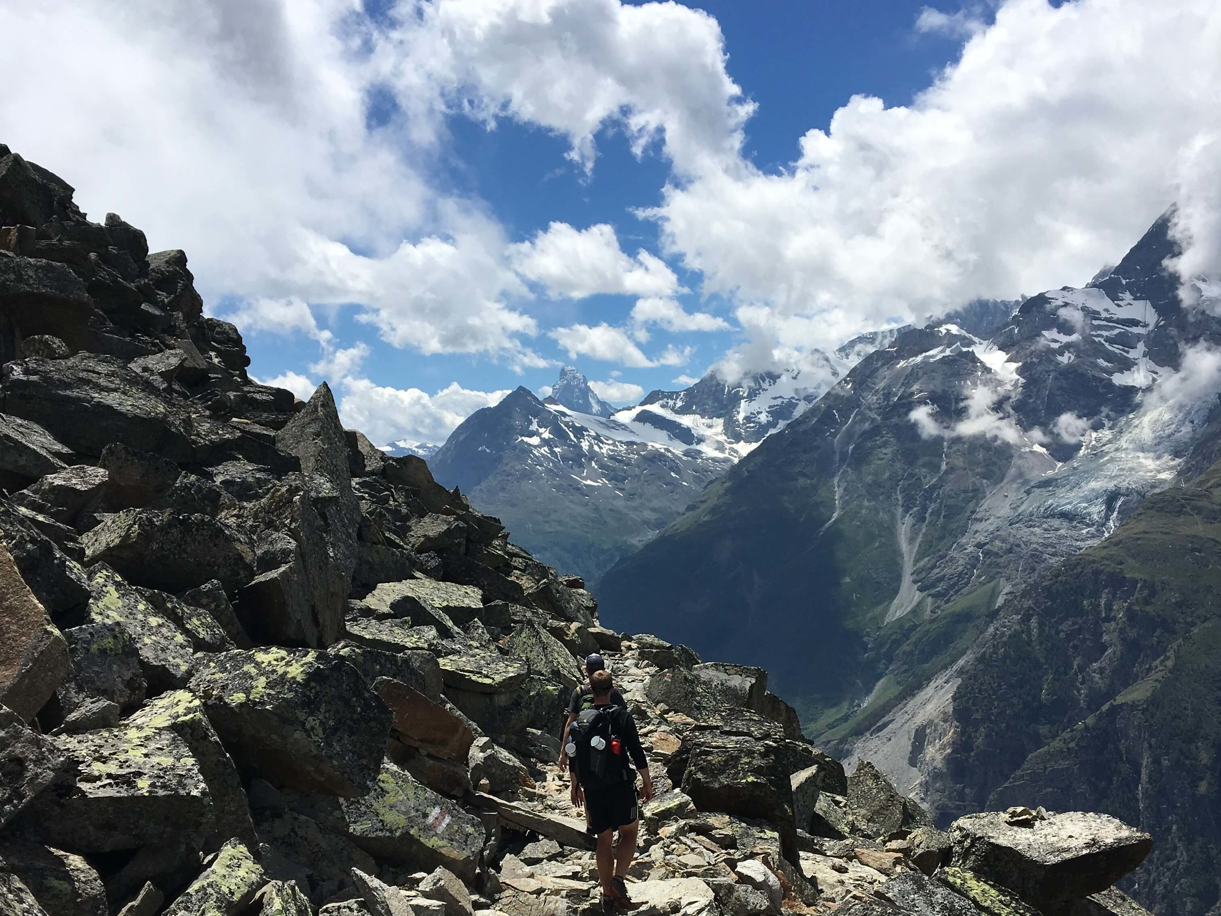 Breathtaking balcony:  The views from Europaweg trail and challenging terrain will take your breath away :) It is a highlight that features on the Walker's Haute Route and Tour of Monte Rosa