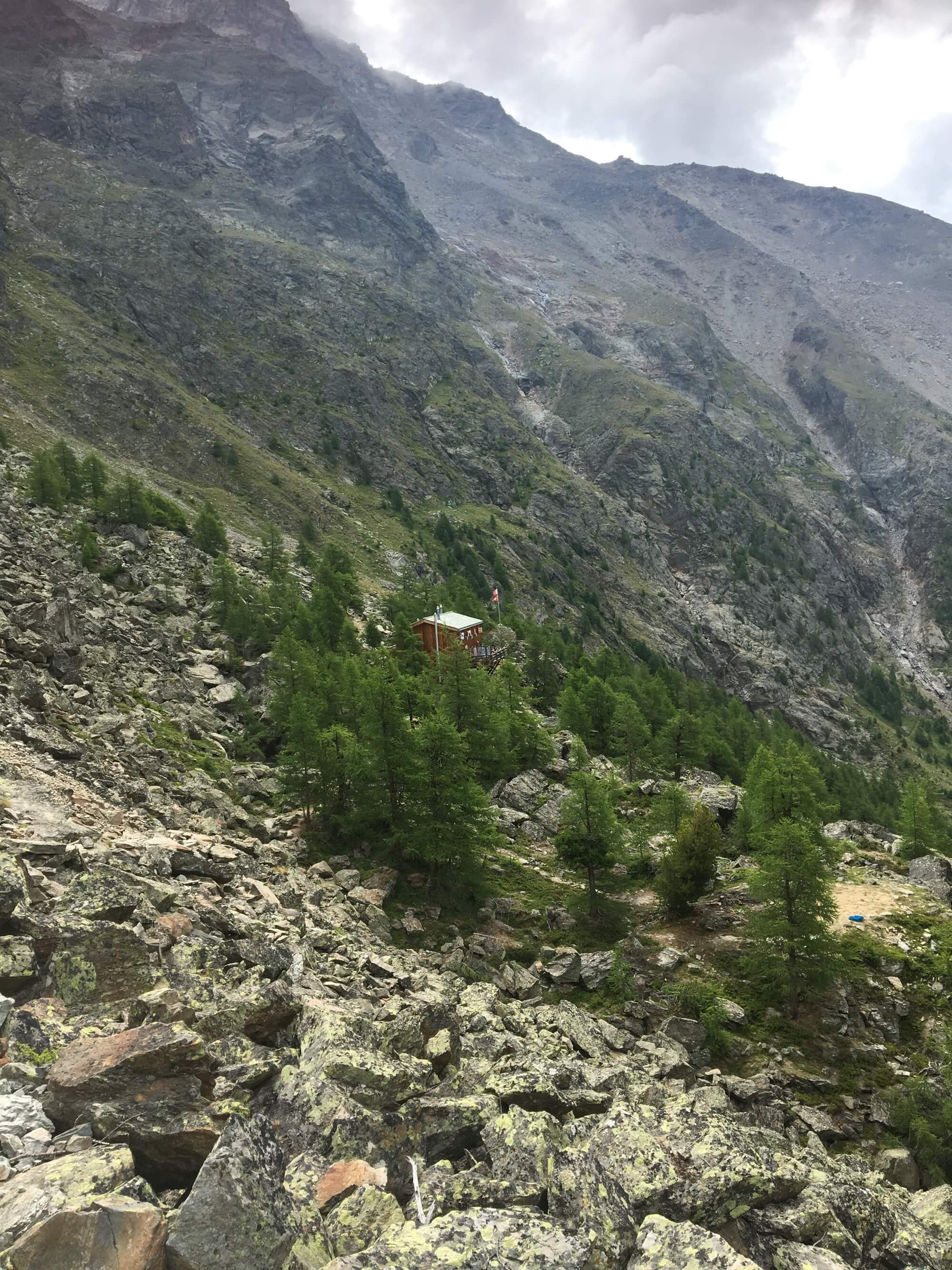Europahütte:  A favourite location for hikers to spend the night while completing the Europaweg trail