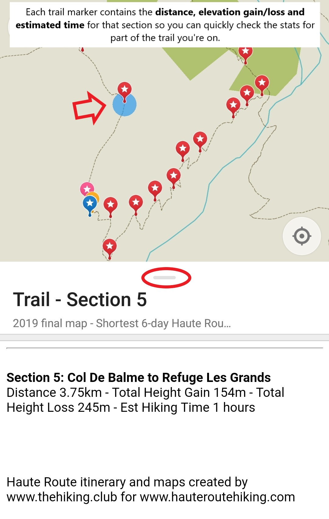Image 21:  This trail information is the same as what can be found in your personalised itinerary