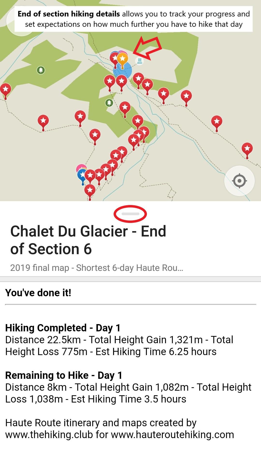 Walker's Haute Route sections