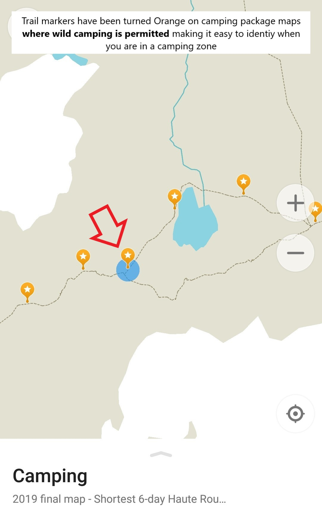 Walker's Haute Route wild camping