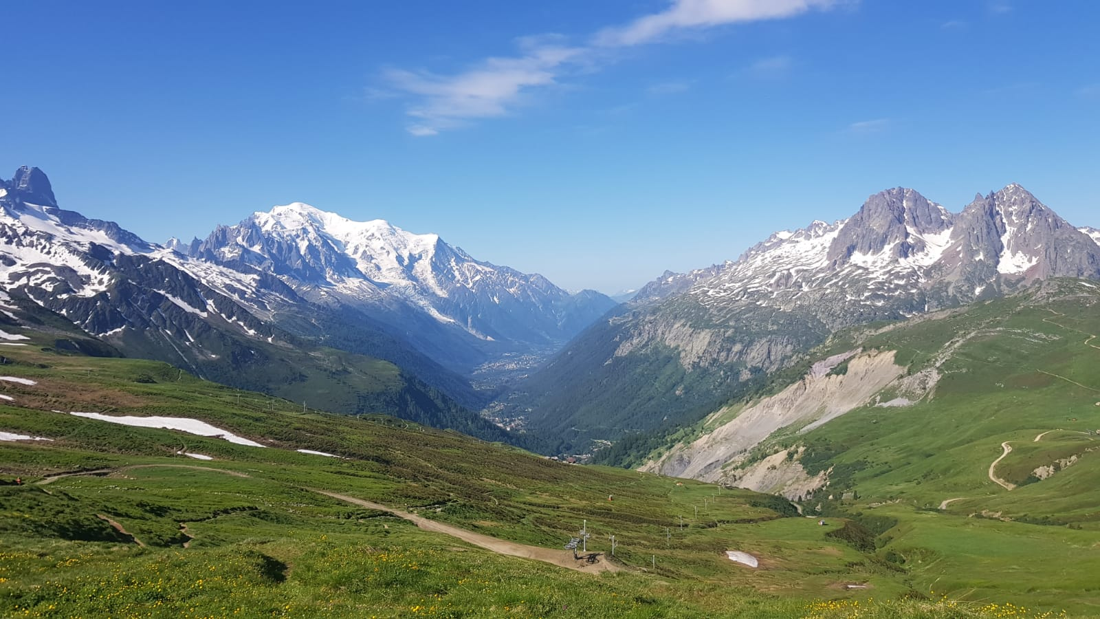 The French section of the Haute Route trail is now clear of snow.