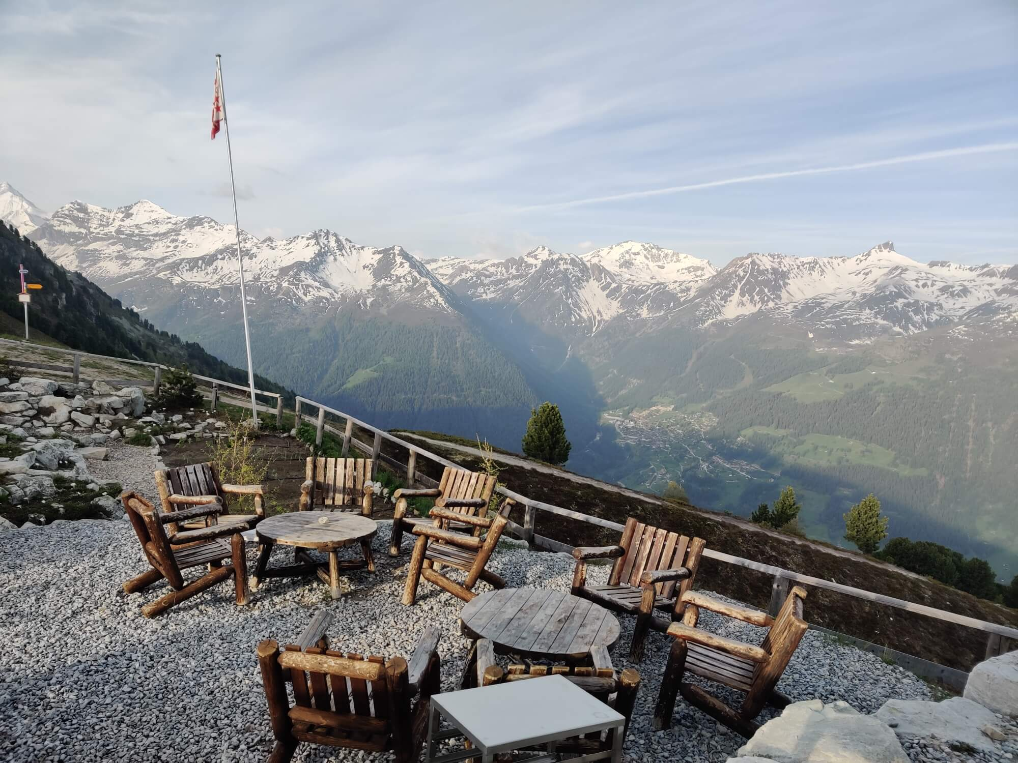 Hotel Weisshorn:  Stop for morning tea or lunch on your way to Medipass